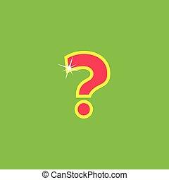 botón, marca, pregunta, caricatura, icono