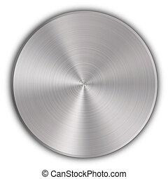 botón, metal, circular