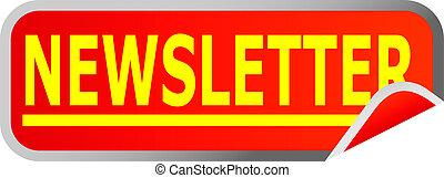 botón, newsletter