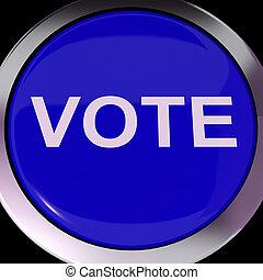 botón, opciones, opción, voto, votación, o, exposiciones