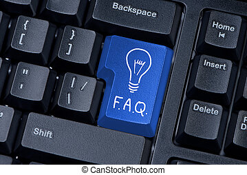 botón, ordenador teclado, f, un, q, internet, concept.