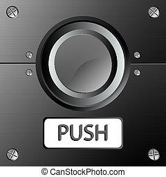 botón, panel