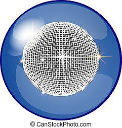 botón, pelota, disco
