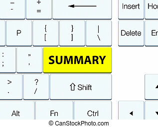 botón, resumen, amarillo, teclado