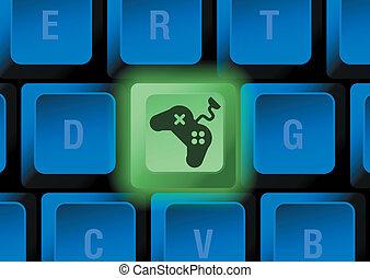 botón, teclado