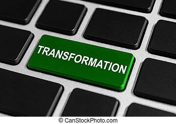 botón, transformación, teclado