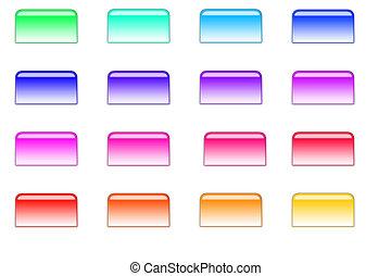 botões, 02, estilo, arquivo