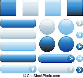 botões azuis, internet