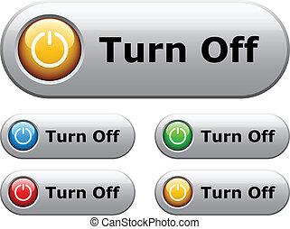 botões, branca, vetorial, lustroso