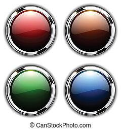 botões, brilhante