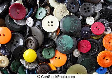 Botões, coloridos