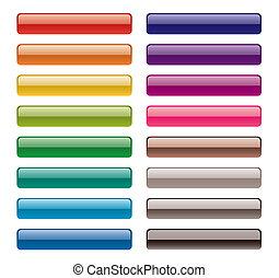 botões, coloridos, longo