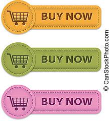 botões, compre