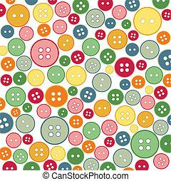 botões, cosendo, seamless, padrão