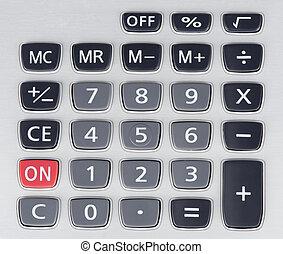 botões, de, calculadora