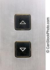 botões, elevador