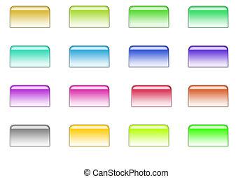 botões, estilo, 01, arquivo