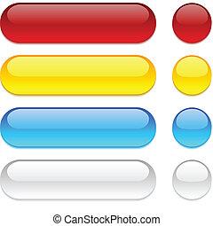 botões, experiência., branca, arredondado