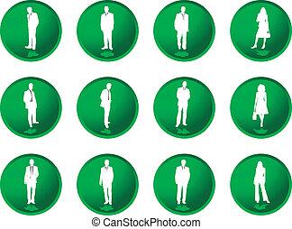 botões, homens, greenberry, negócio