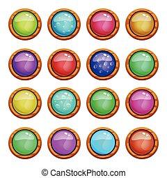 botões, jogo, jogo