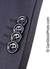 botões, ligado, a, manga, de, casaco