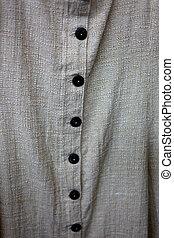 botões, ligado, algodão, camisa