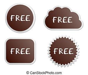 botões, livre