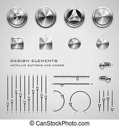 botões, maçanetas