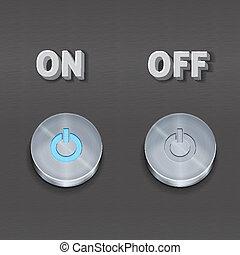 botões, metal
