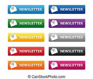 botões, newsletter