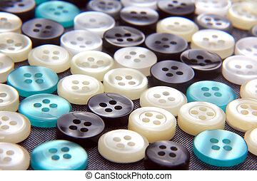 botões, pérola, diferente, mãe