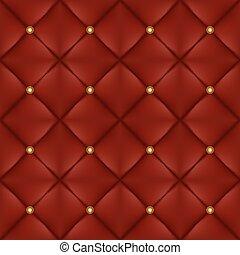 botões, padrão, upholstery, seamless, ouro