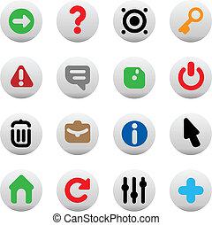 botões, para, interface