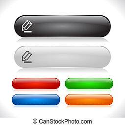 botões, para, teia