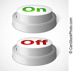 botões, realístico, vetorial