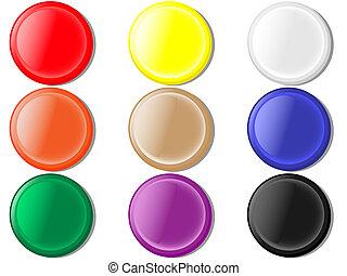 botões, redondo