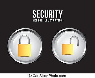 botões, segurança