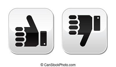 botões, semelhante, unlike, aquilo