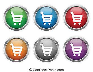 botões, shopping correia fotorreceptora