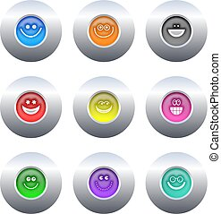 botões, smilie