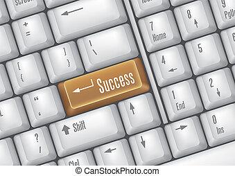 botões, sucesso