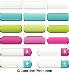 botões, teia, 3d