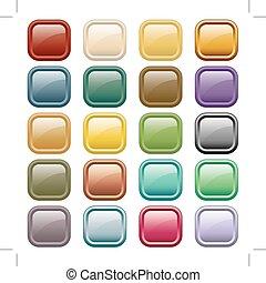 botões, teia, cores, sortido