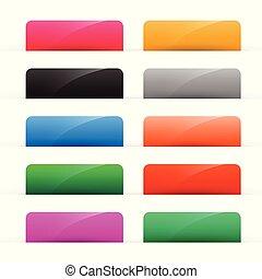 botões, teia, jogo, brilhante, coloridos