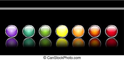 botões, teia, lustroso