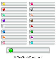 botões, teia, prata