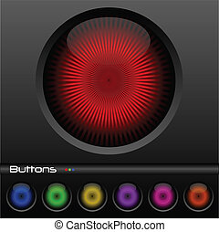 botões, teia