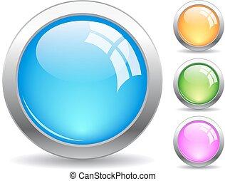 botões, teia, vetorial
