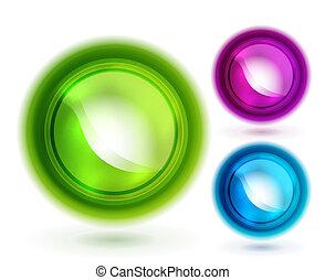 botões, vetorial, líquido