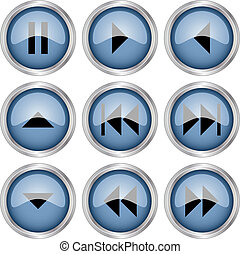 botões, vetorial, lustroso